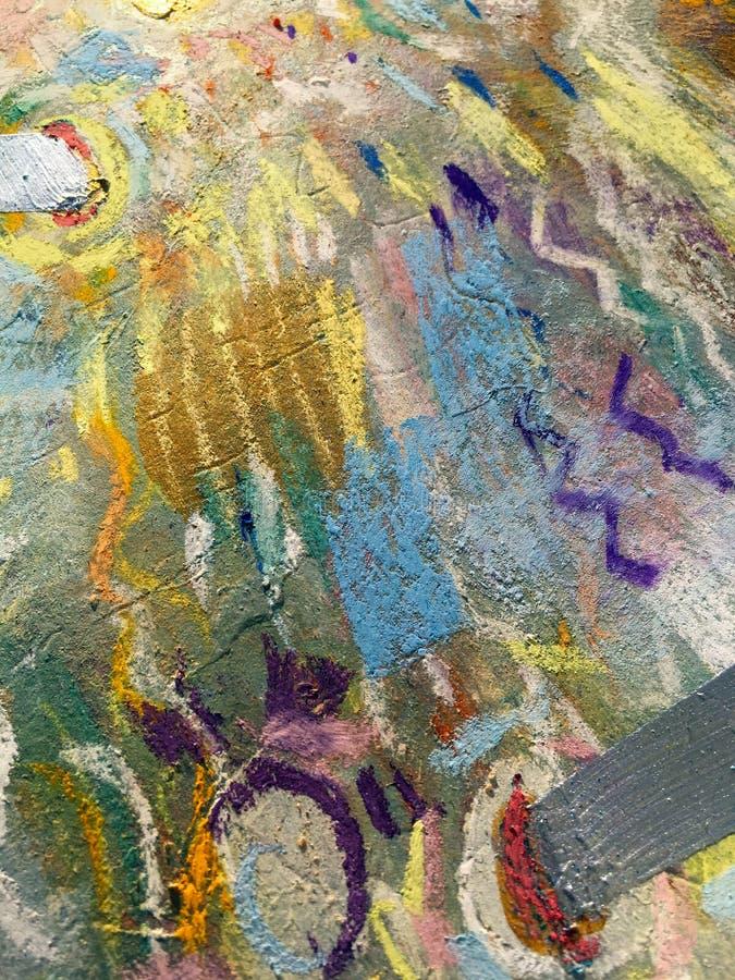 Expressionism χρυσό υπόβαθρο ουρανού Καθιερώνουσα τη μόδα σύσταση ζωγραφικής διανυσματική απεικόνιση