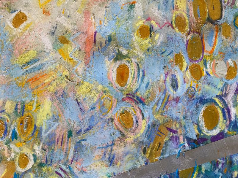 Expressionism Gold Sky Background. Trendy Painting texture. royalty free illustration
