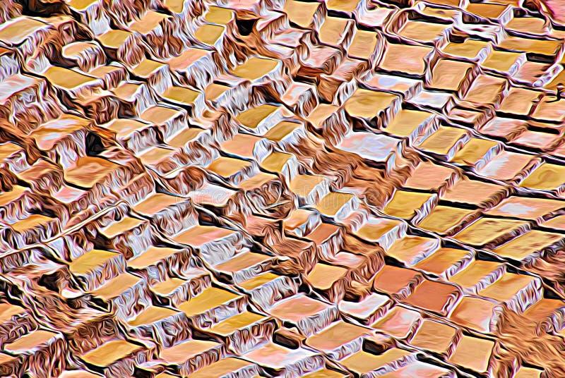 Expressionismo 06 salinos abstratos, arte de Digitas por Afonso Farias ilustração stock