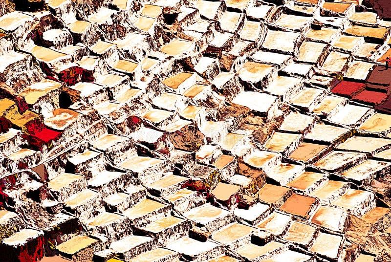 Expressionismo 05 salinos abstratos, arte de Digitas por Afonso Farias ilustração royalty free