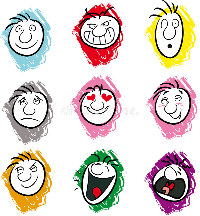 Expressions illustration de vecteur