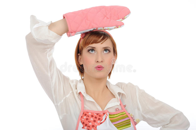 Download Expressions.Beautiful Cooking Woman In Apron Stock Photo - Image: 17532482