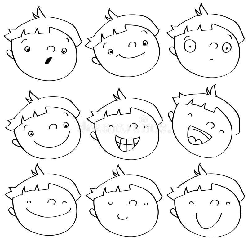 Expressions de gosse illustration libre de droits