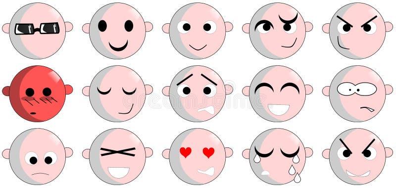 Expressions de visage illustration libre de droits
