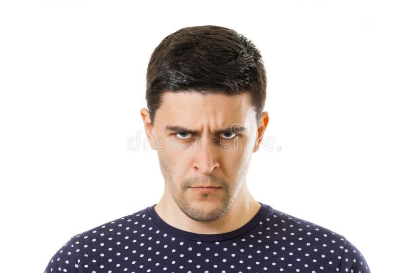 Expressions du visage du ` s d'hommes images libres de droits