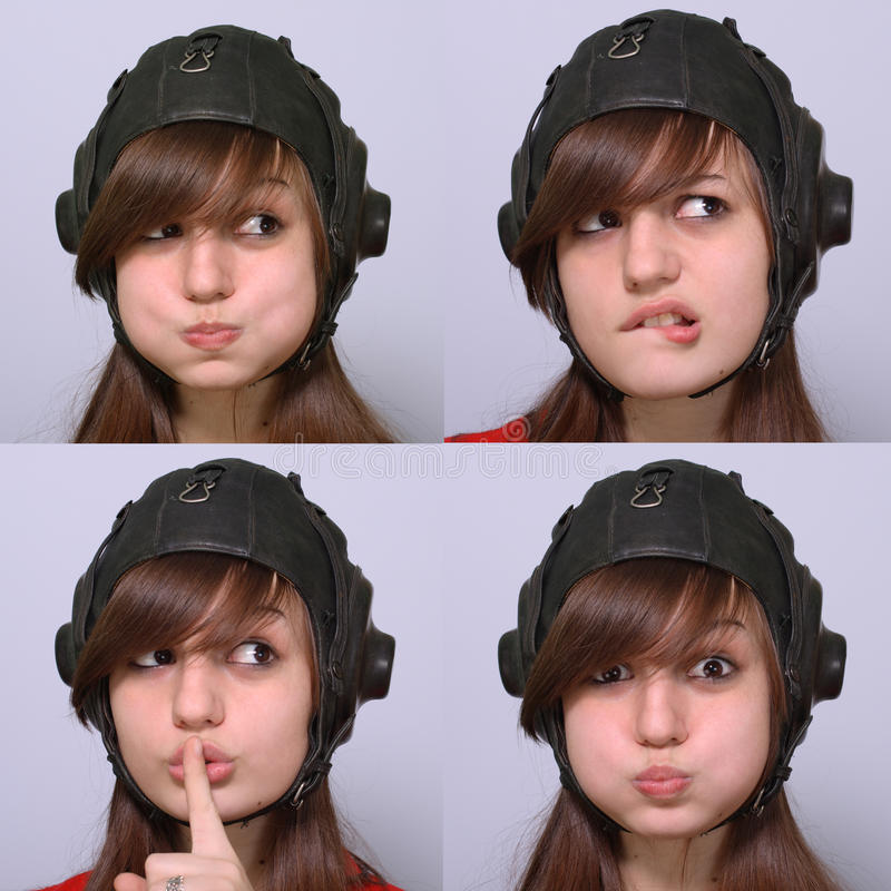 Expressions on face royalty free stock photo