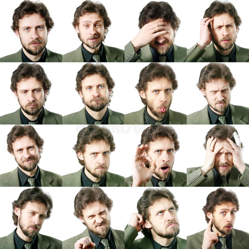Expressions faciales photographie stock libre de droits