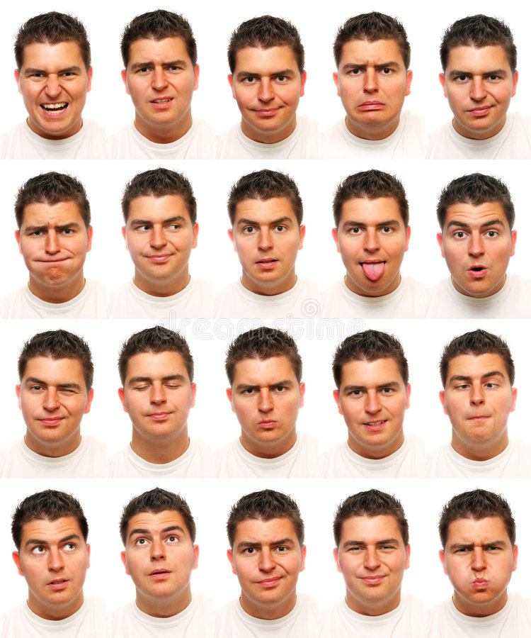 Expressions faciales utiles photos stock