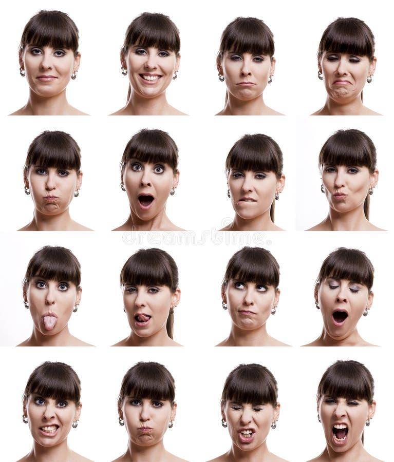 Expressions multiples images libres de droits