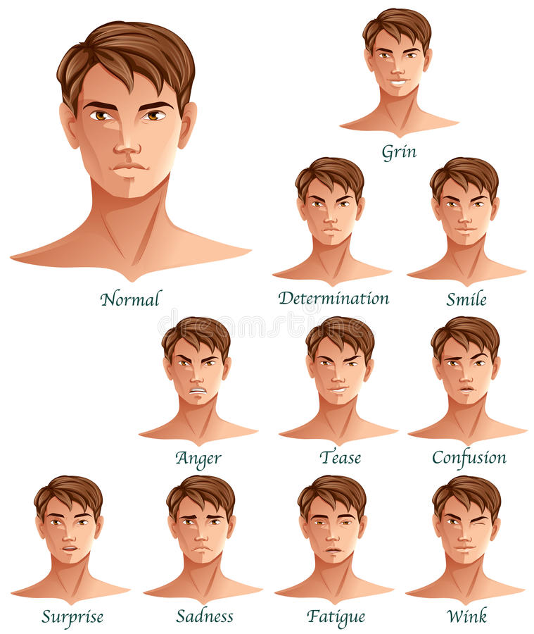 Expressions Set royalty free illustration