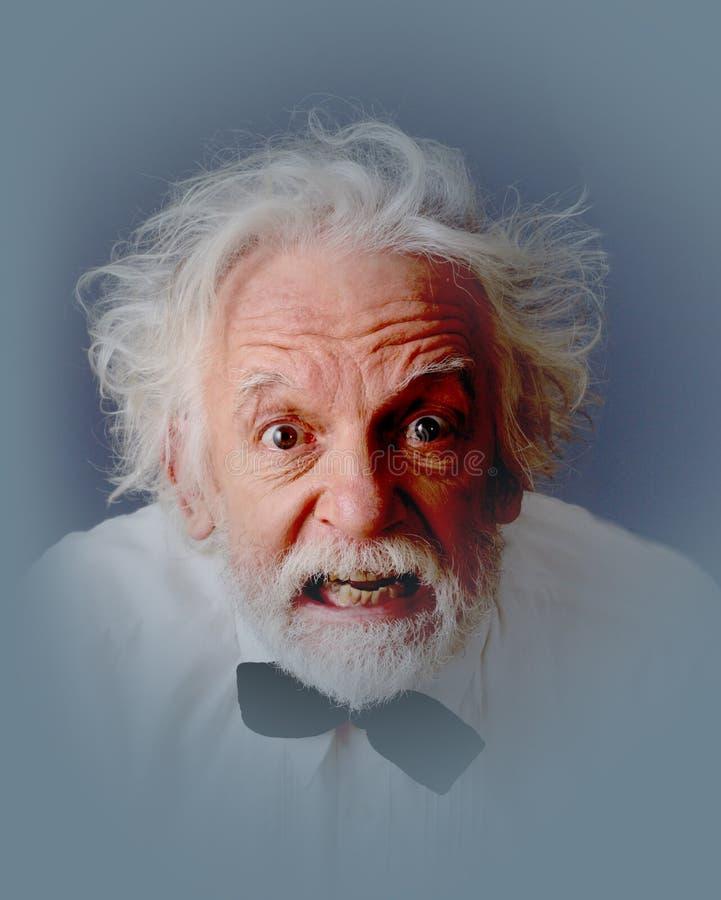 Expressive aged man stock image