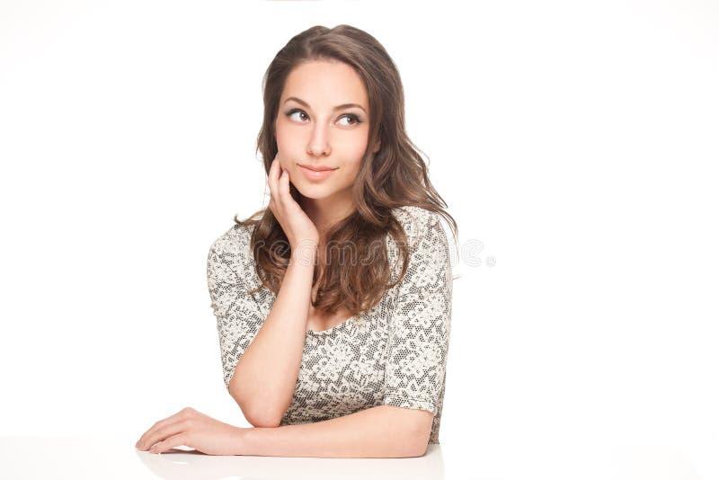 Expressive brunette beauty. stock images