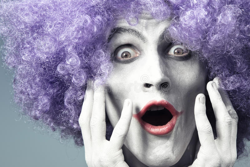Download Expressive clown stock photo. Image of buffoon, emotional - 16013264