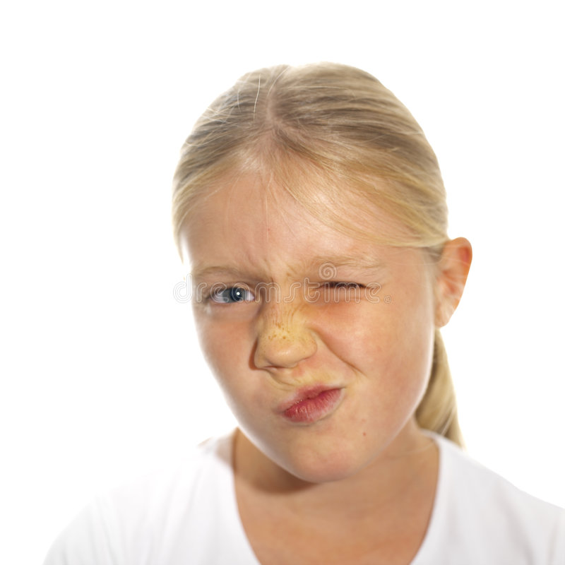Expressive girl's face royalty free stock images