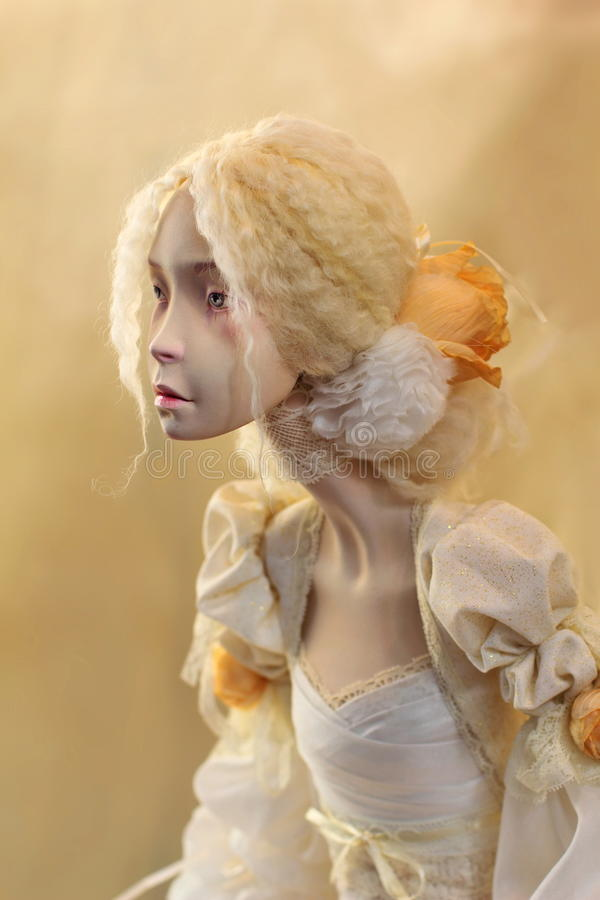 Expressive Handmade Doll (or Dummy) royalty free stock photos
