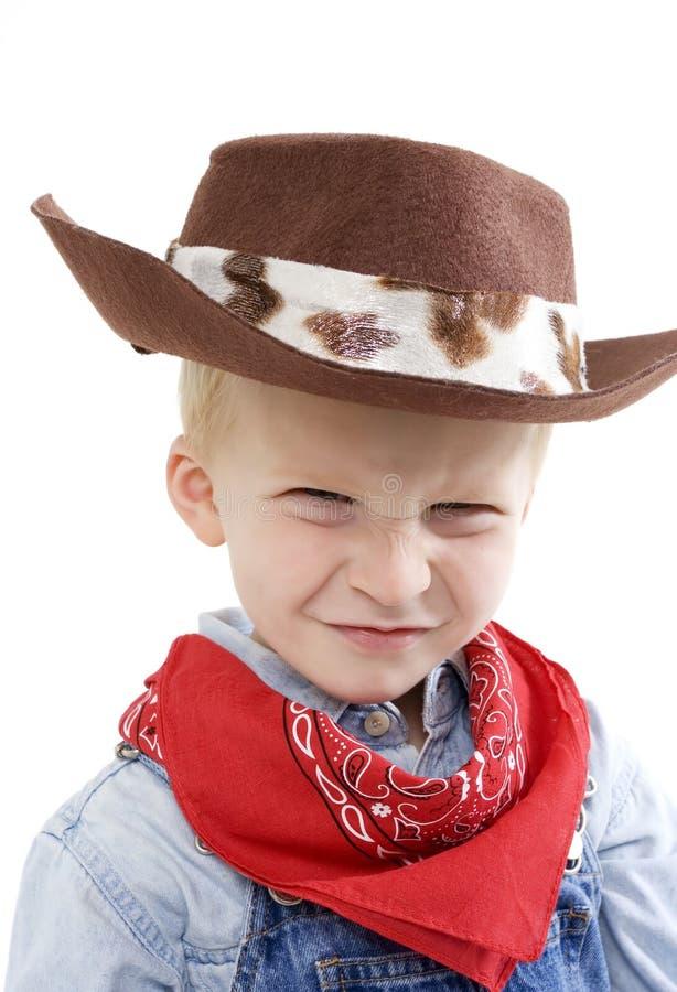 Expressive little boy stock photo
