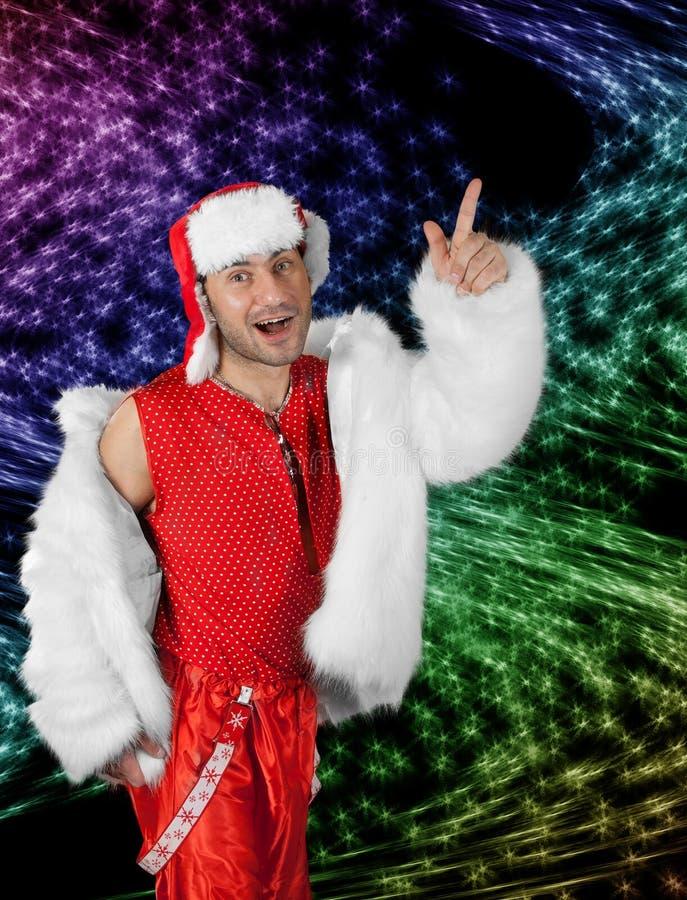 Download Expressive Man In White Fur Coat. Stock Photo - Image: 18419728