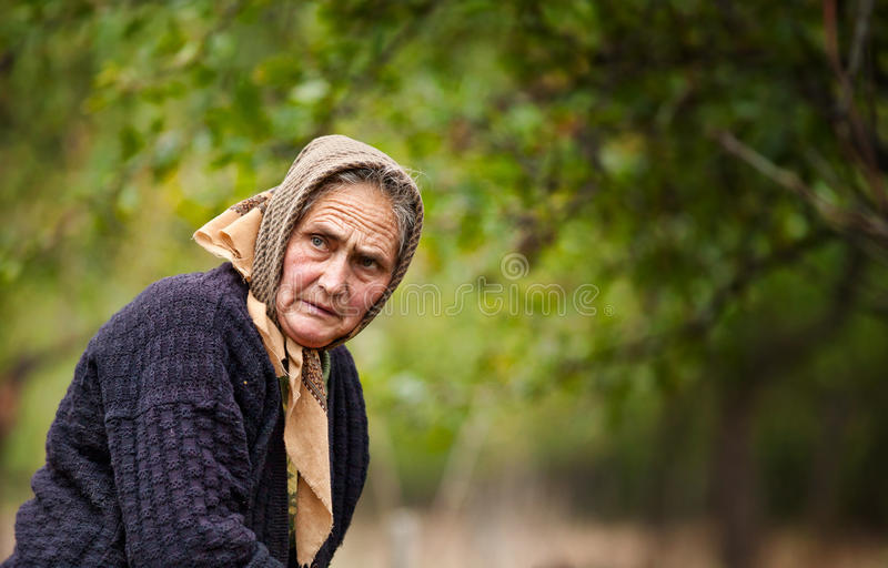Download Expressive Old Woman Outdoor Stock Photo - Image: 17265458