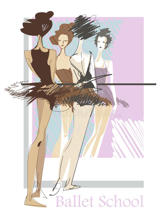 Ballet school stock illustration