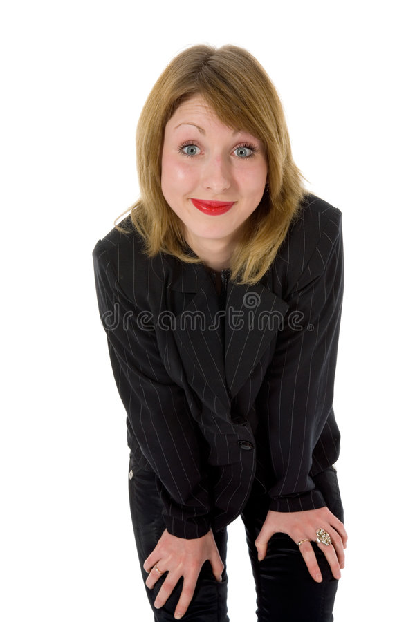 Expressive woman stock photography