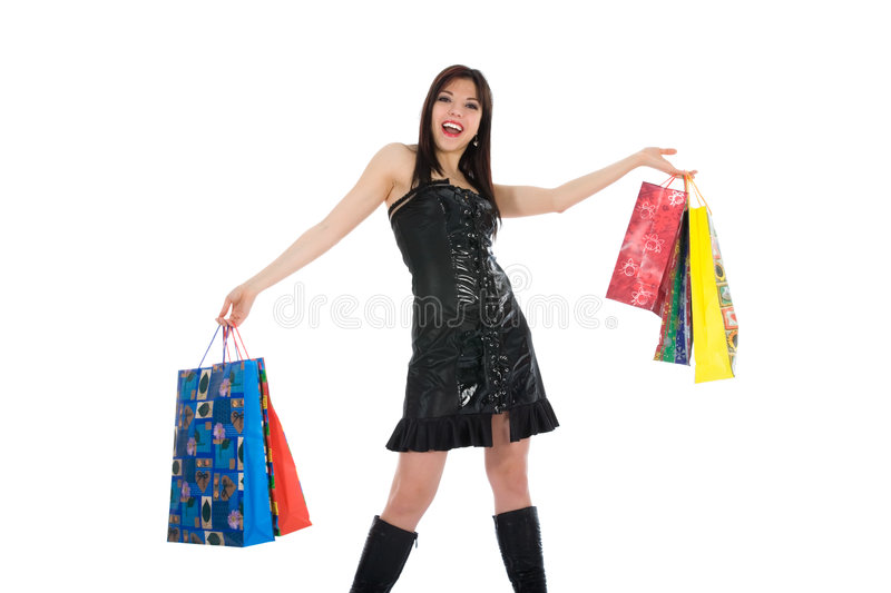 Download Expressive woman shopping stock photo. Image of beautiful - 4627328