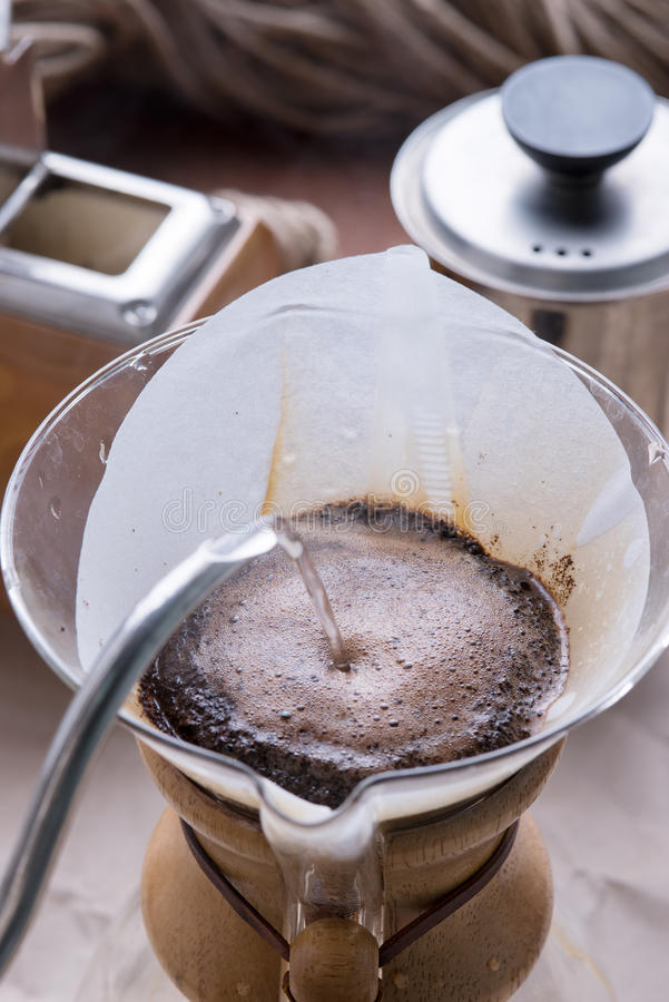 Expresso de café d'égouttement image stock