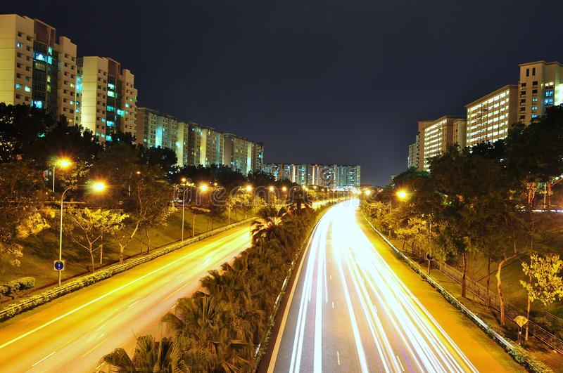 Download An Expressway Surrounded By Apartments Stock Photo - Image: 16952932