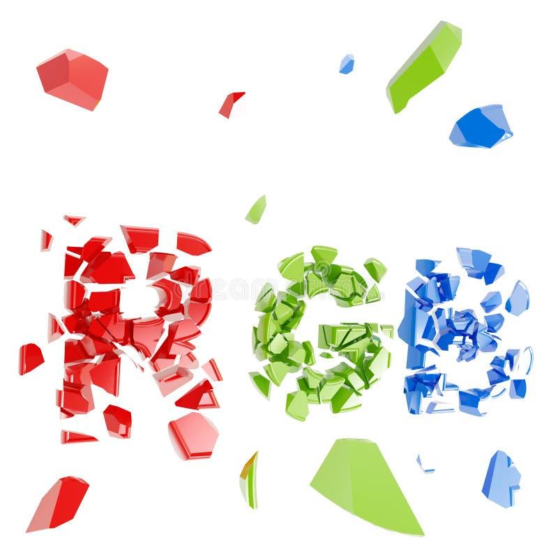 Exprima o RGB causado um crash em partes pequenas ilustração stock
