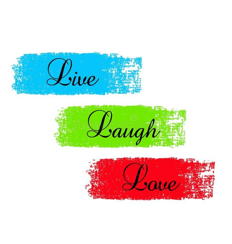 Exprima os provérbios, vivos, riso, ilustração do vetor do amor ilustração do vetor