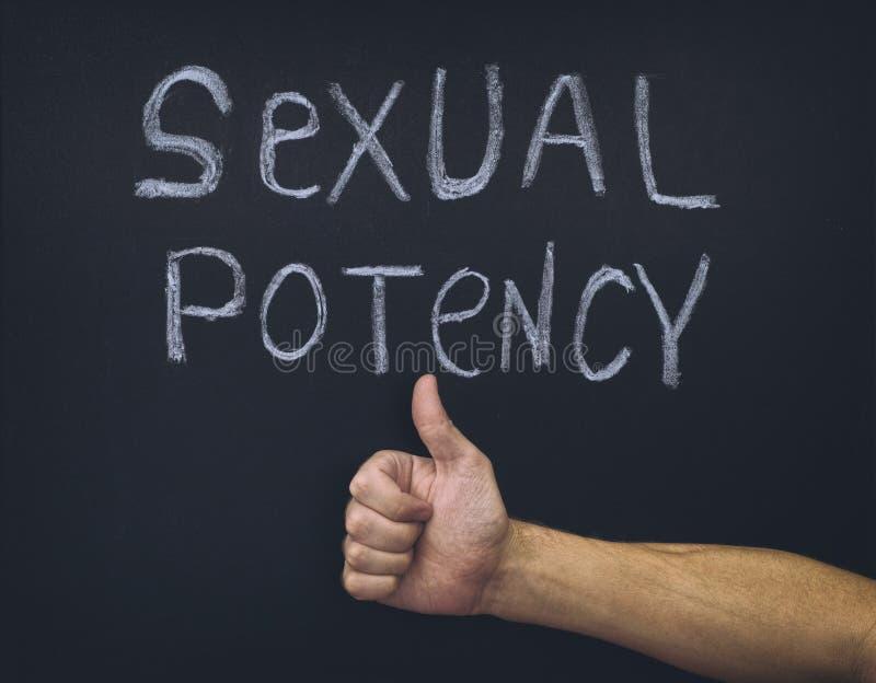 Exprima a potência sexual e o polegar acima da mão abaixo imagem de stock
