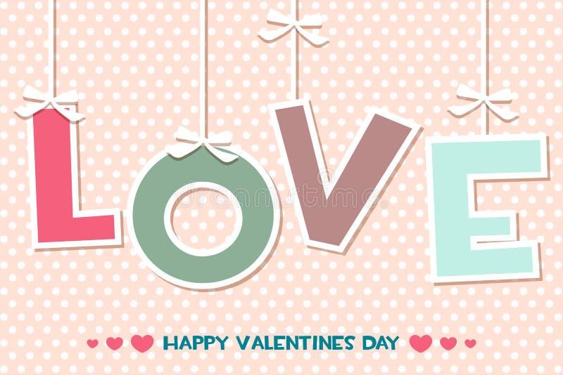 Exprimez l'AMOUR, placez les cartes de voeux heureuses de jour de valentines illustration libre de droits