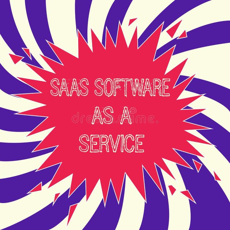 Exprimez le logiciel de Saas des textes d'écriture comme service Le concept d'affaires pour l'usage du nuage a basé l'APP au-dess illustration libre de droits