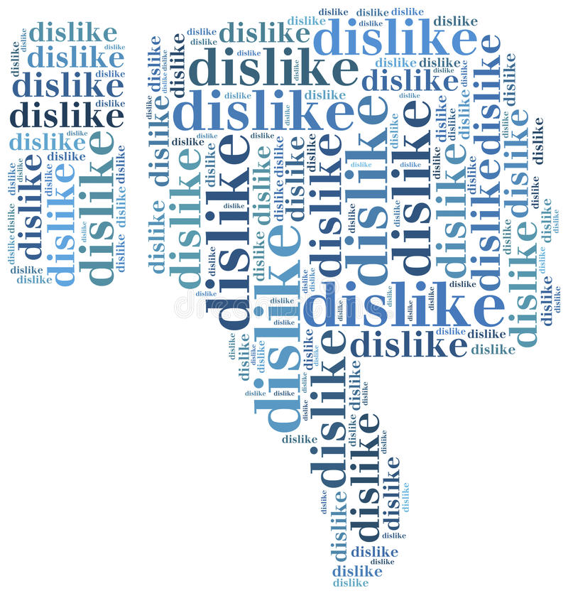 Exprimez le media social de nuage connexe dans la forme du pouce illustration libre de droits