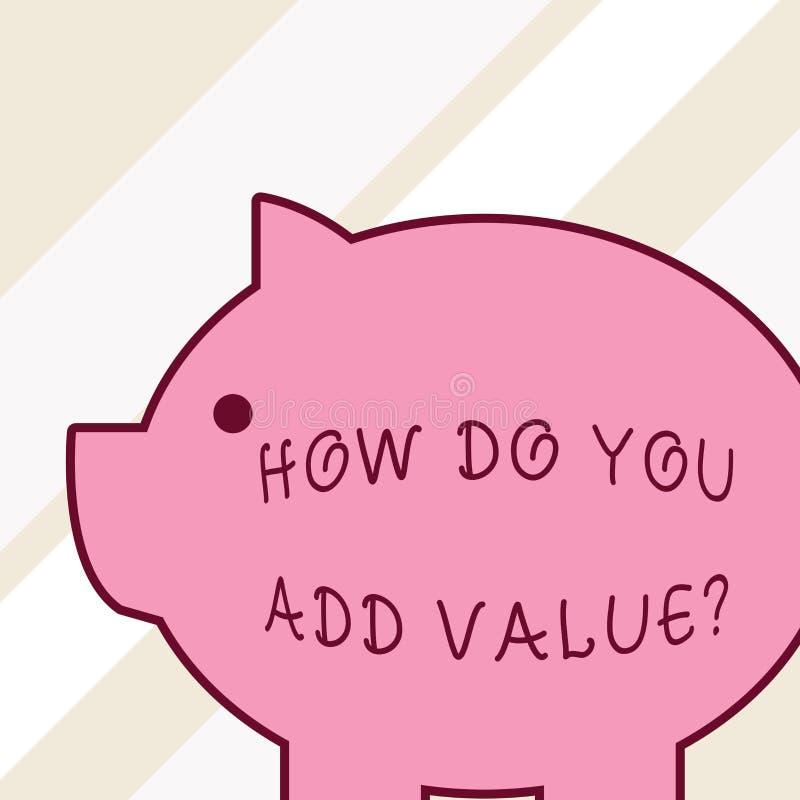 Exprimez le texte d'?criture comment vous ajoutez la question de valeur Concept d'affaires pour améliorer le côté de processus de illustration de vecteur