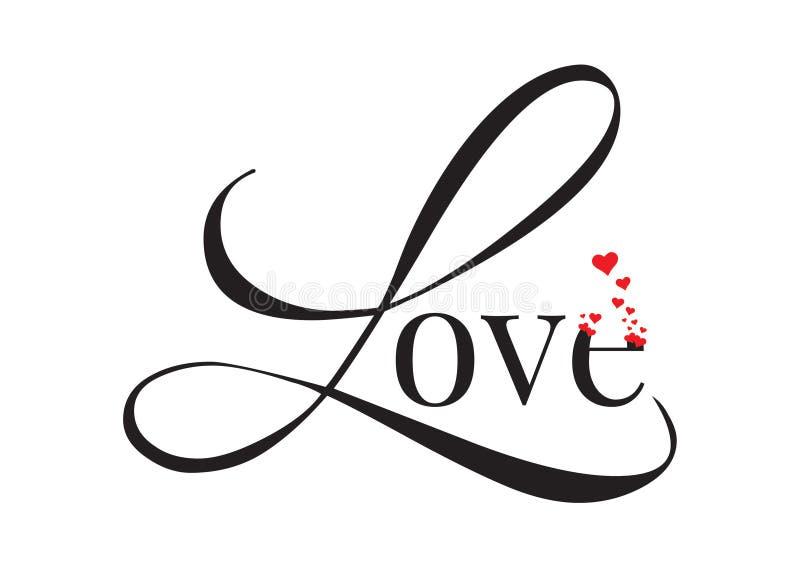 Exprimindo o projeto, amor, decalques da parede, Art Design ilustração stock