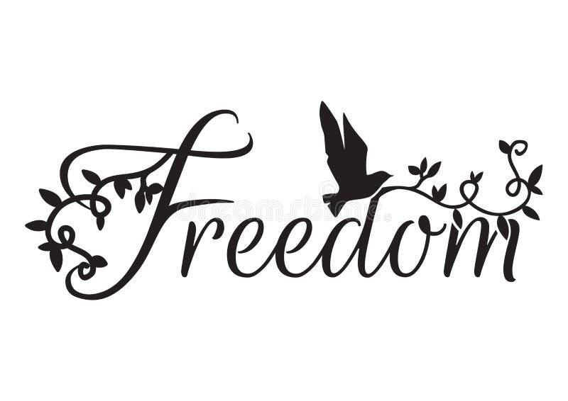 Exprimindo o projeto, liberdade, decalques da parede ilustração royalty free