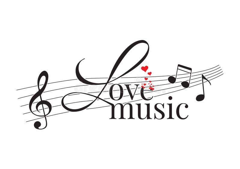 Exprimindo o projeto, música do amor, decalques da parede ilustração stock