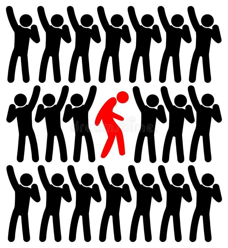 Expulsion du bouc émissaire illustration libre de droits