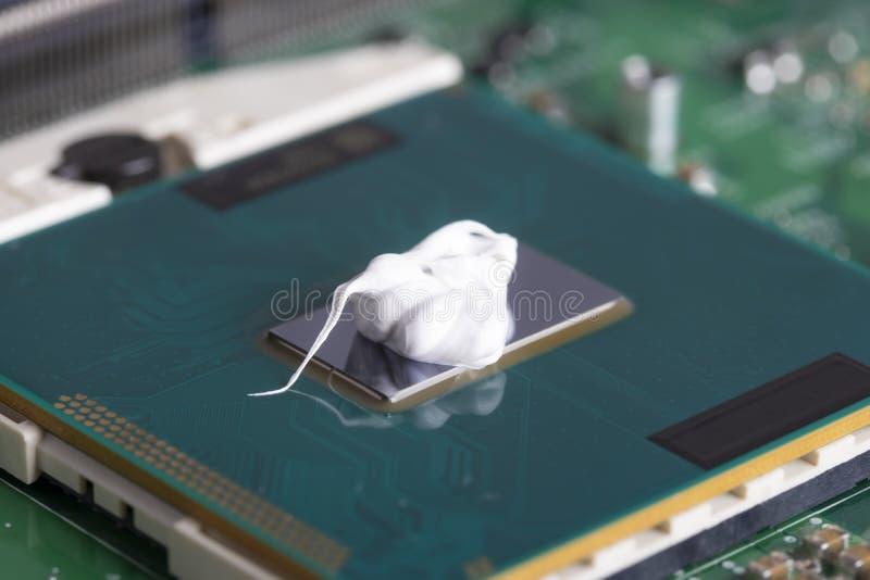 Expulso na microplaqueta de processador Para refrigerar imagens de stock