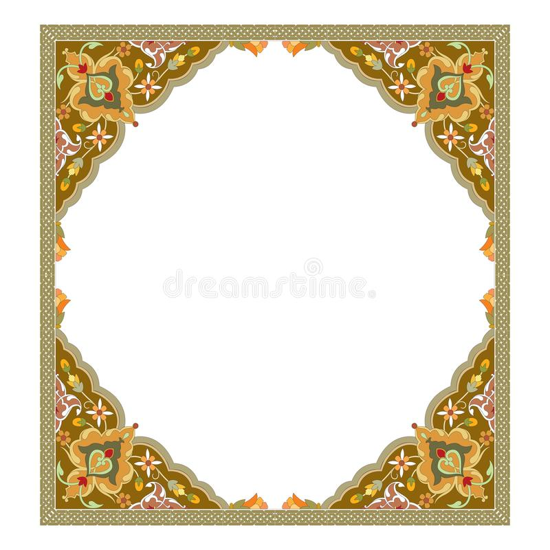 Exquisite arabesque pattern in brown and turquoise tone. For web and other designs vector illustration