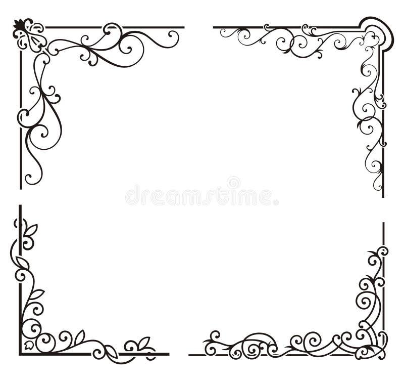 Exquisite Corner Ornamental Designs. A vector set of exquisite corner ornamental designs stock illustration