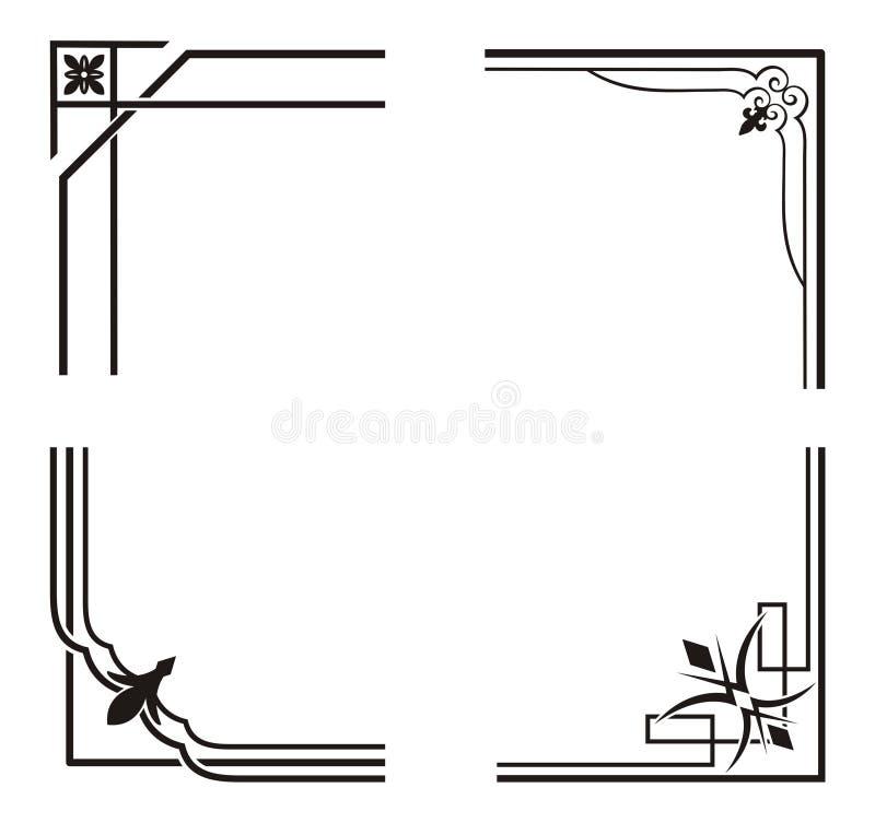 Exquisite Corner Ornamental Designs. A vector set of exquisite corner ornamental designs royalty free illustration