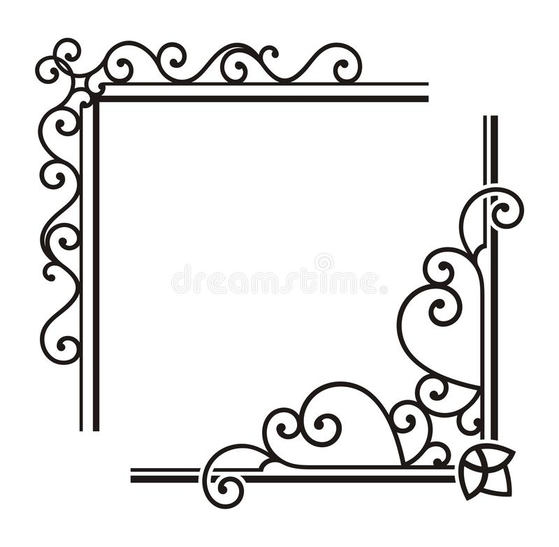 Free Exquisite Corner Ornamental Designs Royalty Free Stock Image - 19347926