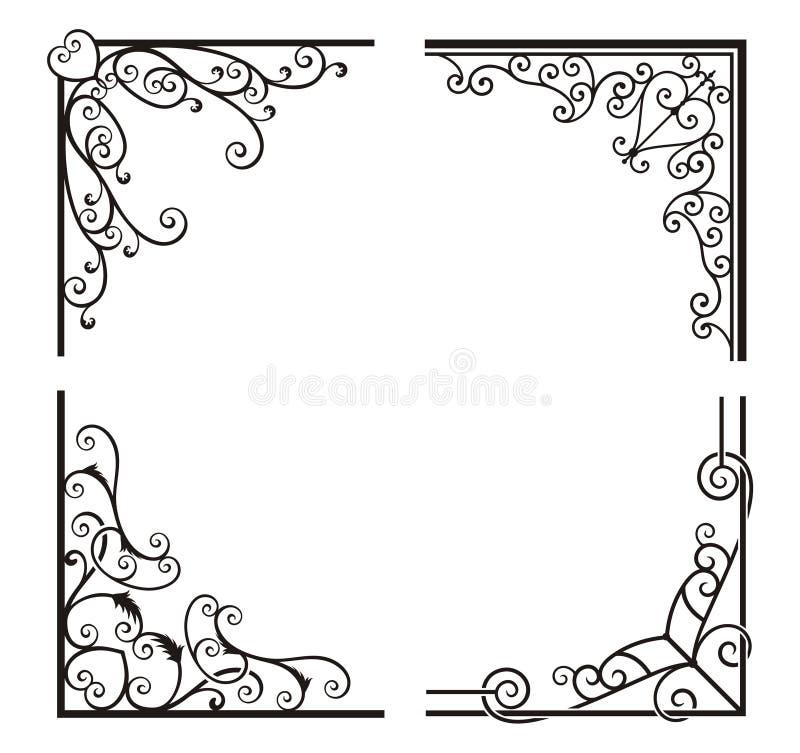 Exquisite Corner Ornamental Designs Stock Photos