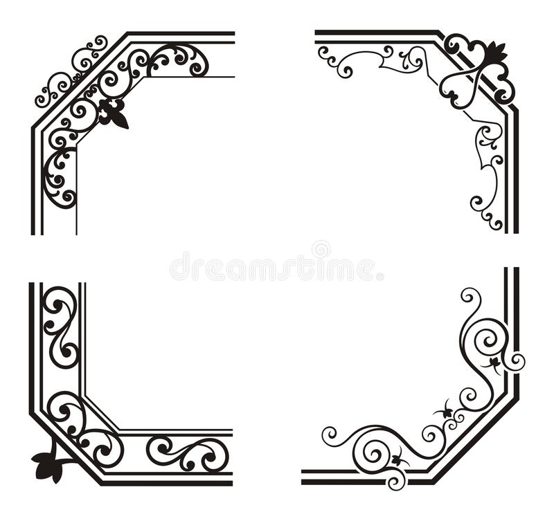 Download Exquisite Corner Ornamental Designs Royalty Free Stock Images - Image: 19347939