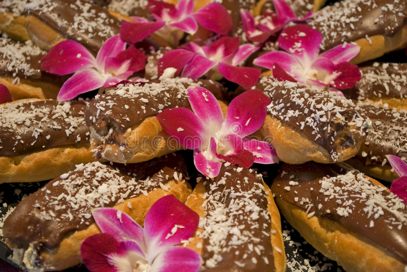 Exquisite Eclairs royalty free stock photography