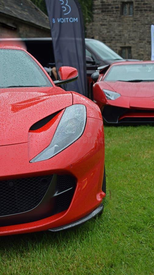 Exquisite Ferrari 812 Superfast & Aventador SV stock image
