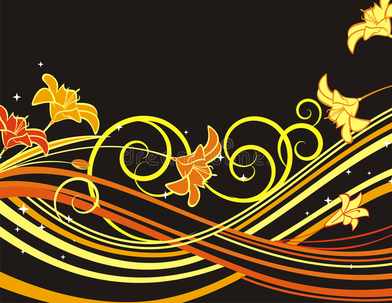 Exquisite floral background. With scroll elements. EPS file included vector illustration