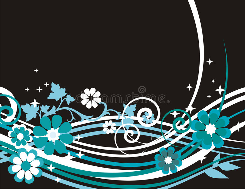 Exquisite floral background. Exquisite floral spring background with scroll elements. EPS file included royalty free illustration