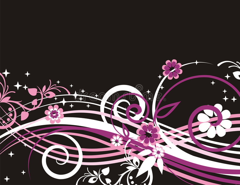 Exquisite floral background. With ornamental and wave elements. EPS file included vector illustration